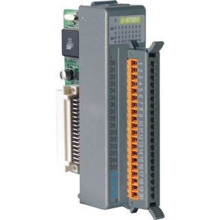 16-channel Non-Isolated Digital Input Module with 16-bit Counters (Gray Cover)