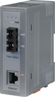 NS-200AFCS-T CR Industrial 10/100 Base-T to 100 Base-FX Media Converter; 1 single mode, SC connector (RoHS)