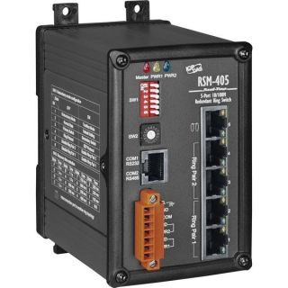 RSM-405 CR	Industrial Ethernet Real-time-ring Switch(Metal case)