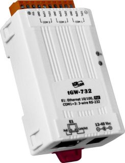 ICPDAS tGW-732 Tiny Modbus/TCP to RTU/ASCII gateway with PoE and 3 RS-232 Ports