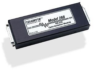RS-232 Opto Isolation Module - Power Stealing,  DB25, 500 VAC