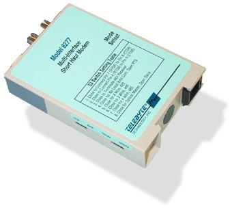 RS-232 to RS-422/RS-485 to Fiber Optic Line Driver - DIN Rail Mounted