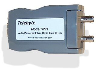 RS-232 Fiber Optic Auto Powered Line Driver - DB9 connector