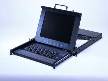 "1U 15"" LCD Rackmount Monitor/Keyboard Drawer with Optional 8-port KVM"