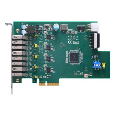 AX92321 - 4-port/8-port USB 3.0 PCI Express Card with 4 Independent Host Controllers