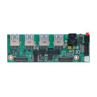 I/O board with two COM, four USB 3.0 and audio for PICO312, PICO313, PICO511, PICO512 - AX93A02