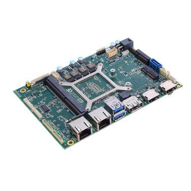 "CAPA13R 3.5"" Embedded SBC with AMD® RYZEN™ Embedded V1807B/V1605B APU, DisplayPort, 2 HDMI, LVDS and 4 GbE LAN"