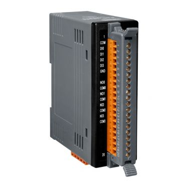 ICPDAS CAN-2060C I/O Module, CANopen, Slave with 4 Digital Inputs and 4 Digital Outputs Relay