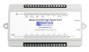 Model DI-4108 High-speed, 16-bit, Expandable USB Data Acquisition (USB DAQ)