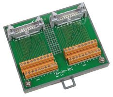 I/O Connector Block with DIN-Rail Mounting and two 20-pin Header