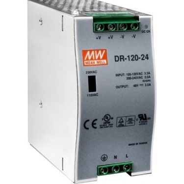 24 V/5 A, 120 W Single Output Industrial DIN Rail Power Supply