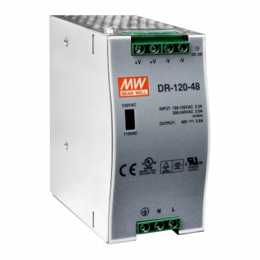 48 V/2.5 A, 120 W Single Output Industrial DIN Rail Power Supply