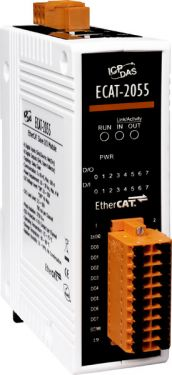 EtherCAT Slave I/O Module with Isolated 8-ch DO and 8-ch DI (RoHS)