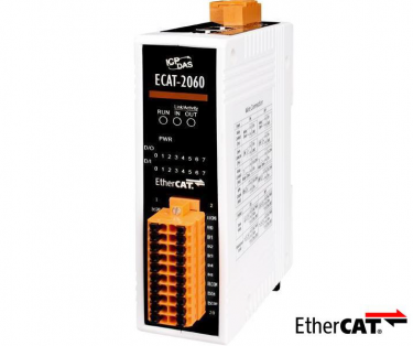 EtherCAT Slave I/O Module with Isolated 6-ch DI and 6-ch Relay DO (RoHS)