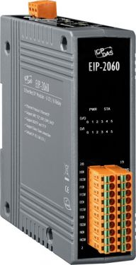 Isolated 6-ch DI and 6-ch Relay Output EtherNet/IP I/O module