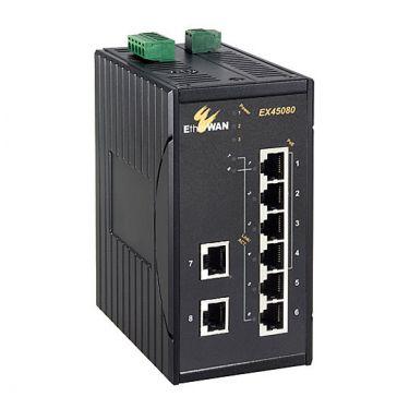 Hardened Unmanaged 8-port 10/100BASE PoE (4 x PoE) Ethernet Switch