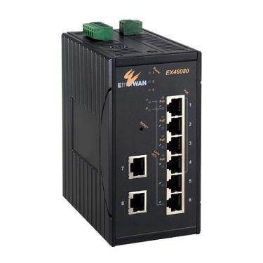 Hardened Web-smart 8-port 10/100BASE High Power PoE (4 x PoE) Ethernet Switch