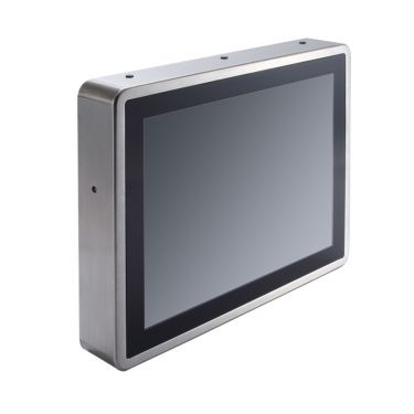 "15"" XGA TFT IP66-rated Stainless Steel Fanless PCT (or Resistive Touch) Panel Computer with Flat Bezel Design (-20°C ~ +55°C)"