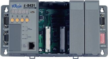 Serial embedded Ethernet controller with 4 I/O slots (Gray Cover)
