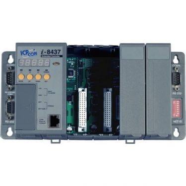 4 slots Faster CPU (80 MHz) Ethernet ISaGRAF PAC