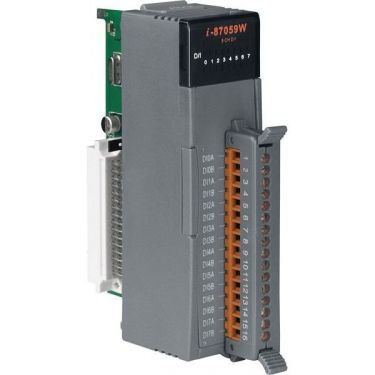 8-channel 10-80V AC Isolated Digital Input Module with 16-bit Counters