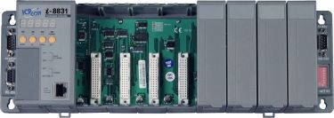 Serial embedded Ethernet controller with 8 I/O slots (Gray Cover)