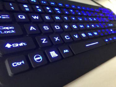 FW00311 Industrieel (IP68) compact USB toetsenbord met touchpad en LED verlichting
