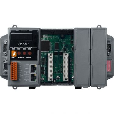 4 slots Faster CPU (80 MHz) Dual Ethernet ISaGRAF PAC