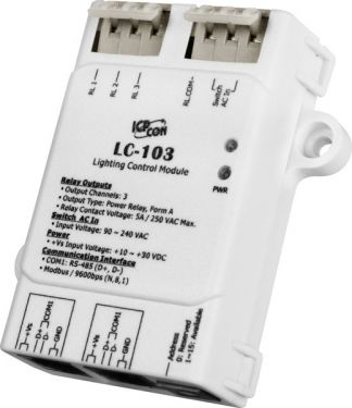 ICPDAS LC-103 - 1-channel AC Digital Input and 3-channel Relay Output Lighting Control Module (RoHS)