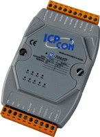 4-channel Isolated Digital Input and 5-channel Relay Output Module with 16-bit Counters and LED Display (Gray Cover)