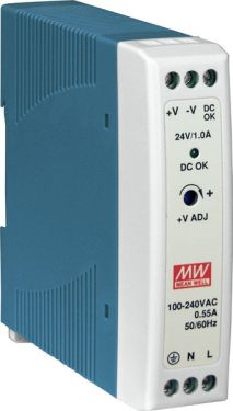 24 W Single Output Industrial DIN Rail Power Supply