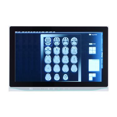 """MPC153-834 - 15.6"""" TFT WXGA fanless medical grade panel computer with Intel® Celeron® processor J1900, projected capacitive multi-touch and medical adapter. AC power input, EMI class B"""