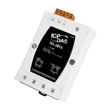 NS-105A - Unmanaged 5-port Industrial 10/100 Mbps Ethernet Switch, +12V DC ~ +53V C