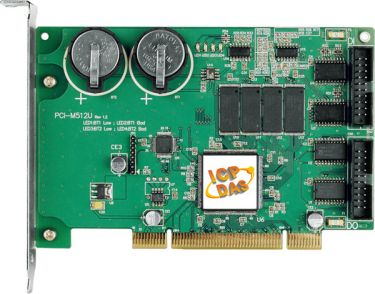 Universal PCI, 512KB Memory Board with DI/DO