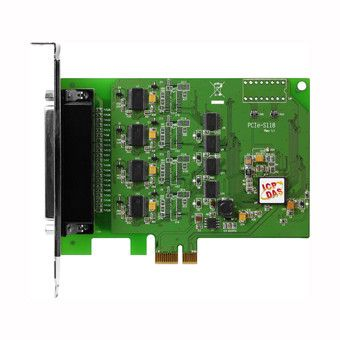 PCI Express, Serial Communication card with 8 RS-232 ports (RoHS)