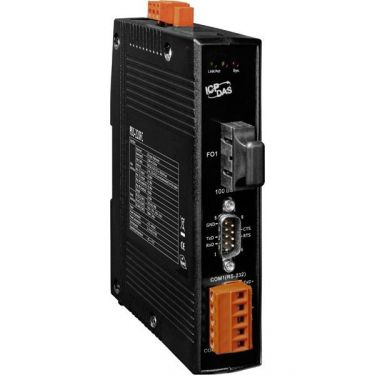 Programmable Device Server with 1 RS-232, 1 RS-422/485 and 1 Multi-mode SC Fiber Ports