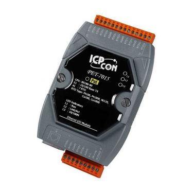 PET-7015 CR PoE Ethernet I/O Module with 7-ch RTD Inputs (RoHS)
