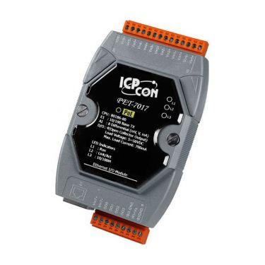 PET-7017 CR PoE Ethernet I/O Module with 8-ch AI, 4-ch DO (RoHS)