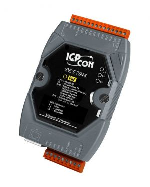 ICPDAS PET-7044 8-channel DI and 8-channel DO with 32-bit Counters PoE Module