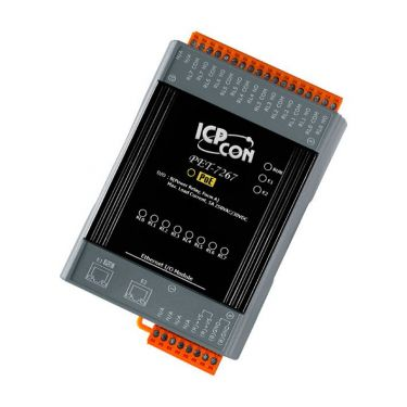 PET-7267 Ethernet I/O Module with 2-port Ethernet Switch and 8 Power Relays