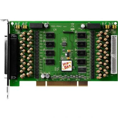 Universal PCI, 64-channel Optically Isolated Open-collector Digital Output Board (Current Sinking)