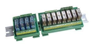8-channel DIN-Rail mounting power relay module, 2 form C