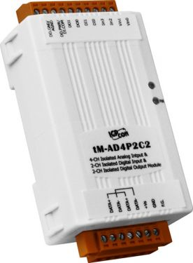 ICPdas tM-AD4P2C2 - 4-channel Analog Input, 2-channel Digital Input and 2-channel Digital Output Module