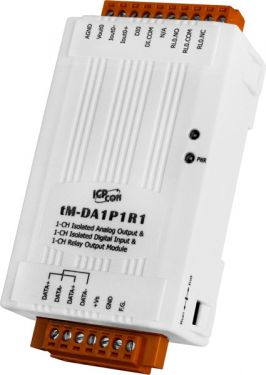 ICPDAS tM-DA1P1R1 -  1-channel Isolated Analog Output, 1-channel Isolated Digital Input and 1-channel Relay Output Module (RoHS)