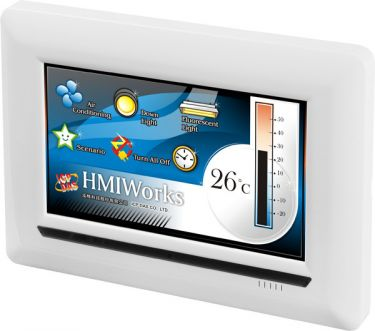 """IPCdas TPD-703 - 7"""" Touch HMI with RS-232/RS-485/USB/LAN/PoE"""