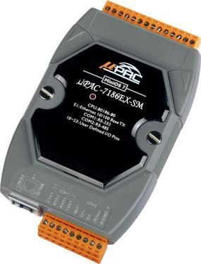 Palm-size μPAC with 7-segment LED Display (80MHz CPU, 10/100 Ethernet, 640K SRAM, 512K Flash, RS-232x1, RS-485x1)
