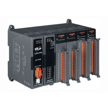 Intelligent USB I/O expansion unit with 4 slots (Gray Cover)
