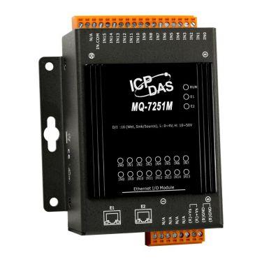 MQ-7251M MQTT I/O Module with 2-port Ethernet Switch, with 16-ch DI (RoHS)