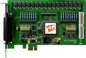 PCI Express, 16-channel isolated digital input, 16-channel PhotoMos relay output