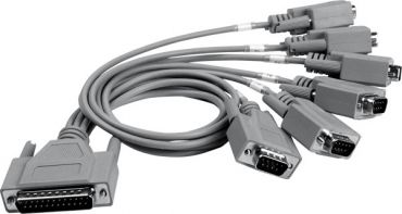 DB-25 Male (D-sub) to 6-Port DB-9 Male (D-sub) cable